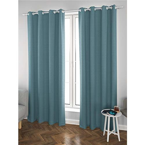 DDECOR Live beautiful Ddecor 5 Feet Window Bonita Turquoise Eyelet Curtain