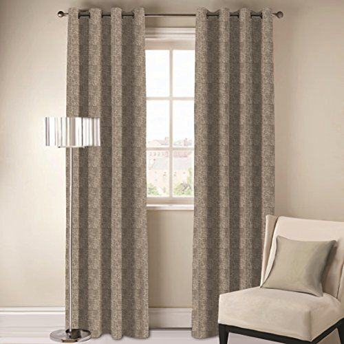 DDECOR Live beautiful D'Decor 1 Piece Polyester Eyelet Door Curtain - 7 Feet, Beige
