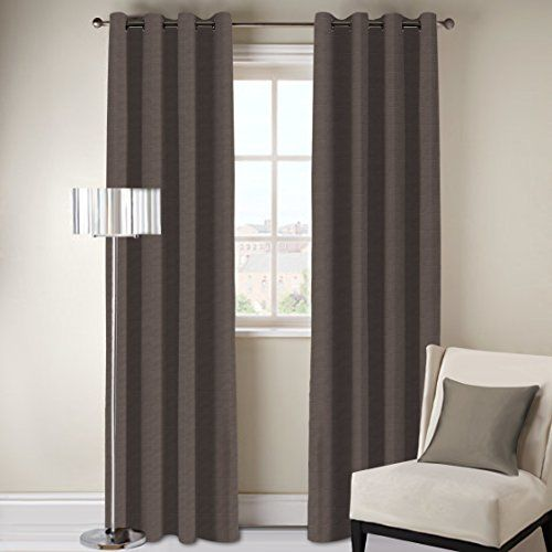 DDECOR Live beautiful D'Decor 1 Piece Polyester Eyelet Door Curtain - 7 Feet, Brown