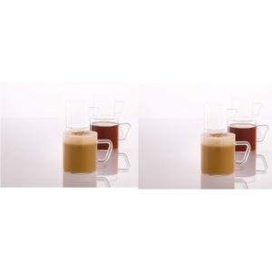 Borosil Classics Glass Mug(120 ml, Pack of 6)