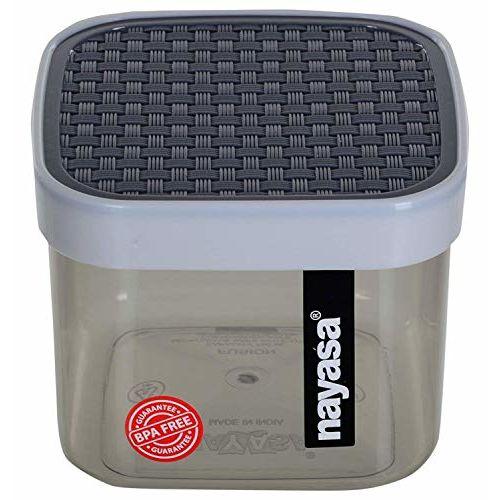 Nayasa Superplast Plastic Fusion Containers 500ml, Set of 6, Grey