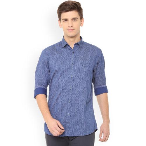 Allen Solly Men Blue Slim Fit Printed Casual Shirt