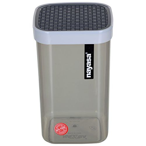 Nayasa Superplast Plastic Fusion Container 1 Litre, Set of 3, Grey