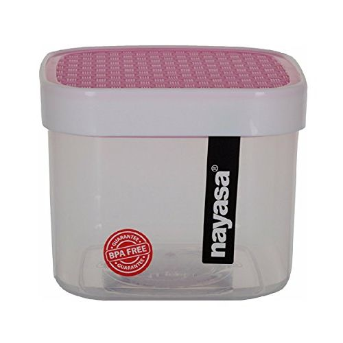 Nayasa Superplast Fusion Plastic Container Set, 550 ml, Set of 3, Pink