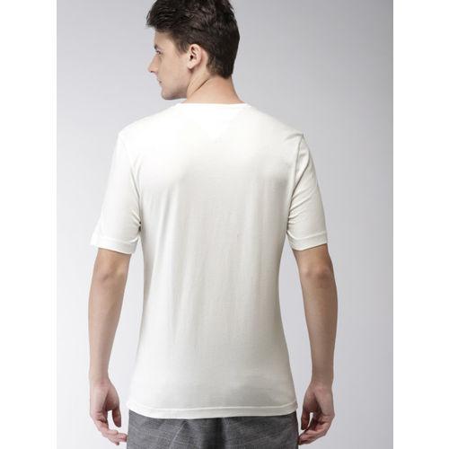 Tommy Hilfiger Men White Printed T-shirt