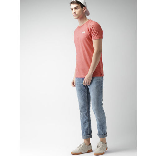 Tommy Hilfiger Men Coral Solid Round Neck T-shirt