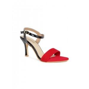 DressBerry Women Red & Black Slim Heels