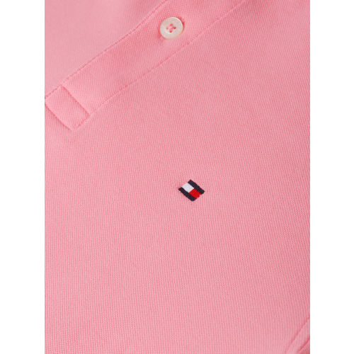 Tommy Hilfiger Men Pink Solid Polo T-shirt
