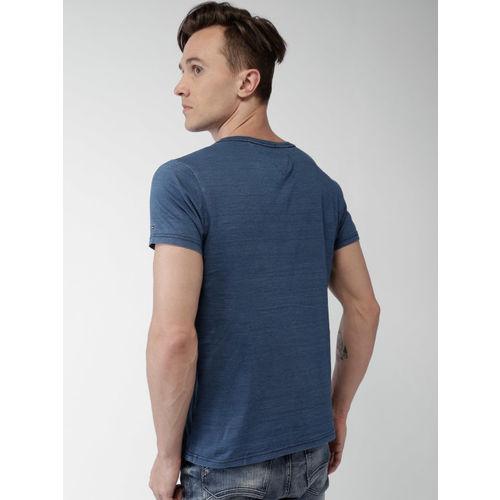 Tommy Hilfiger Men Blue Printed T-shirt