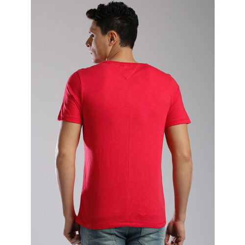 Tommy Hilfiger Men Red Printed T-shirt