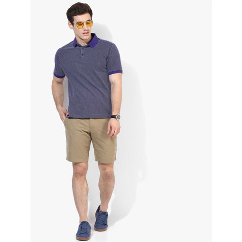 Marks & Spencer Purple Solid Slim Fit Polo T-Shirt
