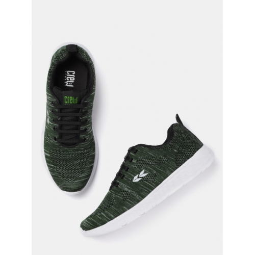 Crew STREET Men Olive Green Running Shoes