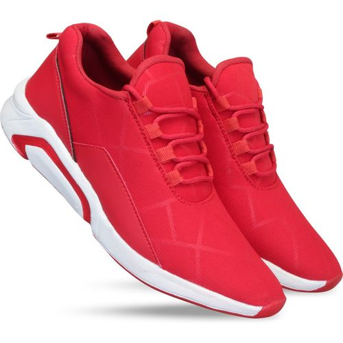 Layasa Red Polyurethane Running Shoes