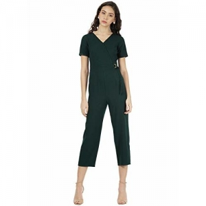 FabAlley Crepe Jumpsuit (DRS02609_Green_Small)