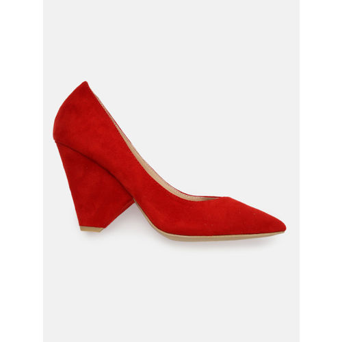 Mast & Harbour Women Red Solid Pumps