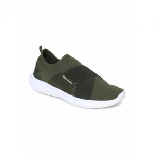 Allen Solly Men Olive Green Solid Slip-On Sneakers