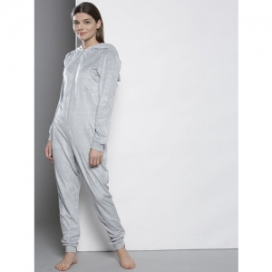 DOROTHY PERKINS Grey & White Printed Lounge Jumpsuit 33137027