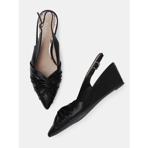 Mast & Harbour Women Black Solid Heels
