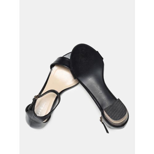 Mast & Harbour Women Black Solid Open Toe Heels