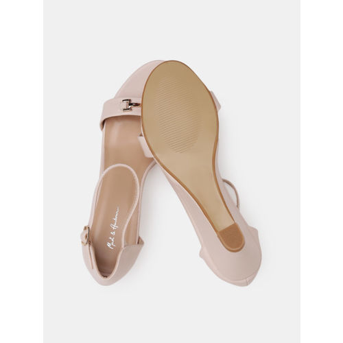 Mast & Harbour Women Beige Solid Heels