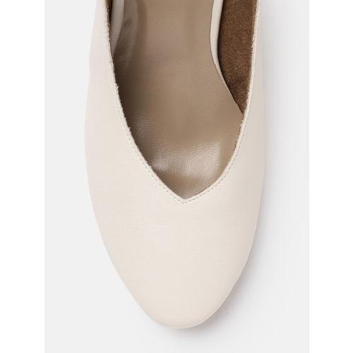 Mast & Harbour Women White Solid Heels