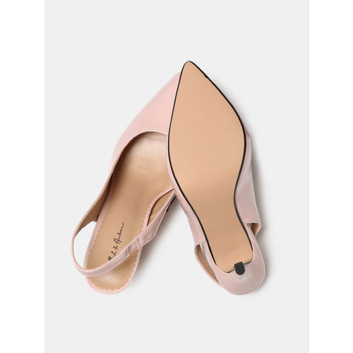 Mast & Harbour Pink Synthetic Solid Pumps
