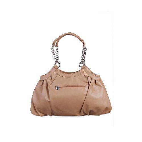 Butterflies Light Brown Handbag