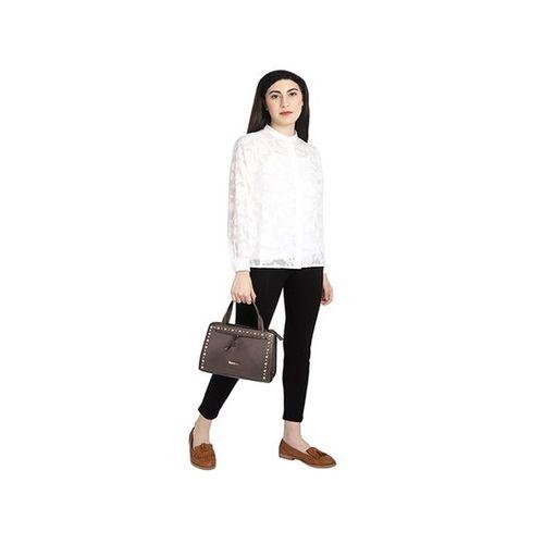 Addons Brown Embellished Handbag