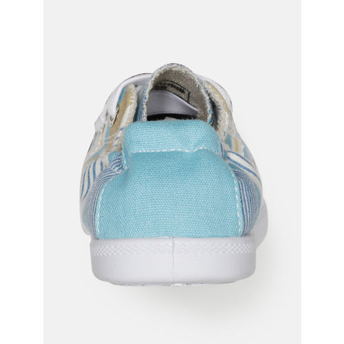Mast & Harbour Women Blue & White Striped Sneakers
