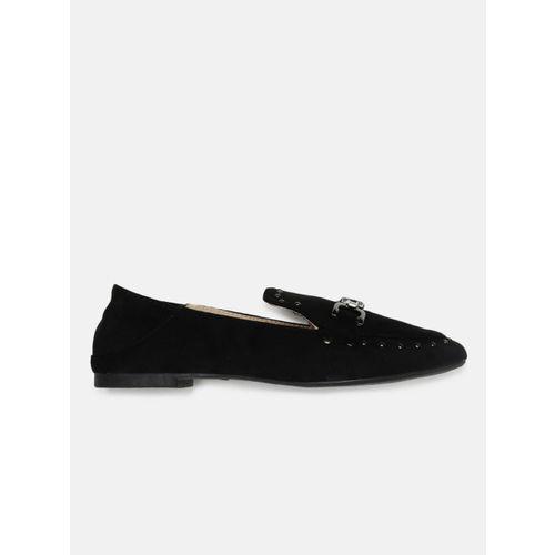 Mast & Harbour Women Black Embellished Loafers