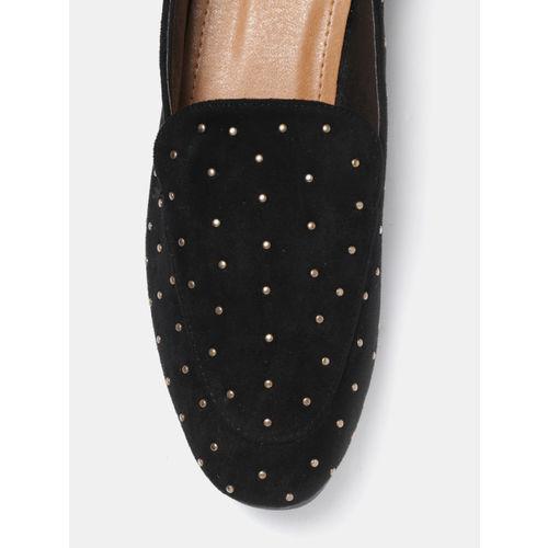 Mast & Harbour Women Black Embellished Slip-Ons