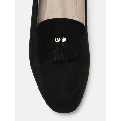 Mast & Harbour Women Black Suede Loafers