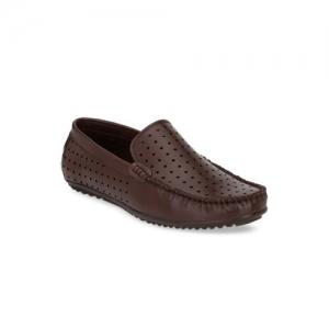 El Paso Men Brown Loafers
