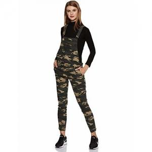 e22fdafc10 Forever 21 Women's Cotton Jumpsuit (00235401027_0023540102_Olive/Black_7_)