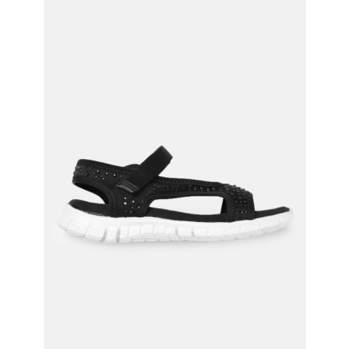 Mast & Harbour Women Black Solid Open Toe Flats