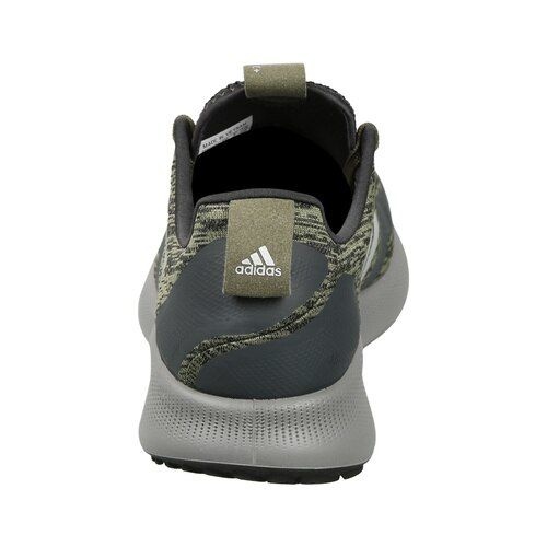 ADIDAS Men Olive Green & Grey Printed Purebounce + Street Running Shoes