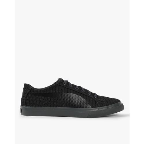 Puma Men Grey Rap Low Knit IDP Sneakers 36842207