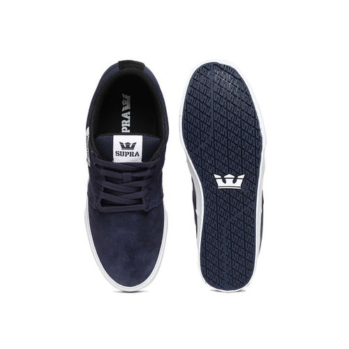 Supra Men STACKS VULC II Navy Blue Suede Sneakers