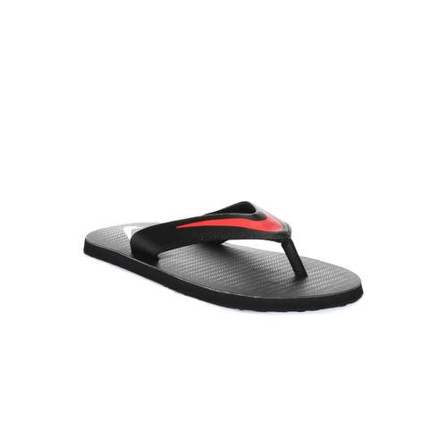 Nike Men Black Chroma Thong 5 Flip-Flops