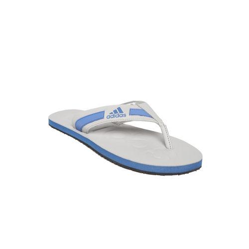 ADIDAS Men Grey & Blue SLALON 2018 Thong Flip-Flops