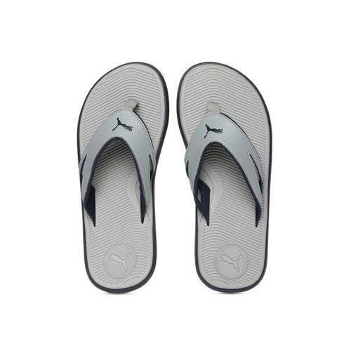 Puma Men Grey Solid Thong Flip-Flops