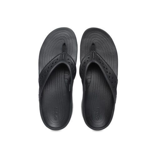 Crocs Men Charcoal Solid Thong Flip-Flops