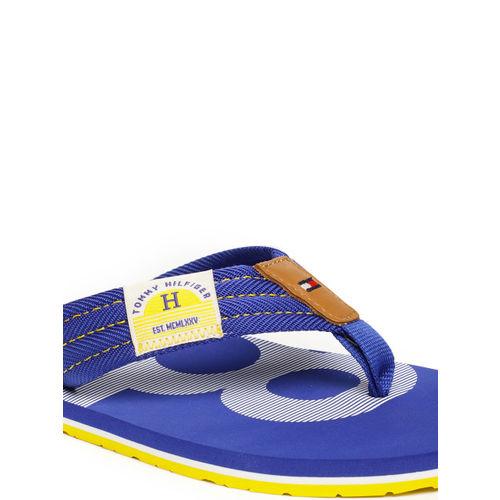 fa1a12176 Buy Tommy Hilfiger Men Blue Solid Thong Flip-Flops online