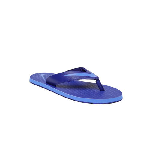 Nike Men Blue Solid Thong Flip-Flops
