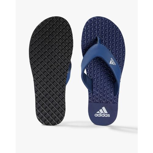 ADIDAS Men Navy Blue Bise Textured Thong Flip-Flops