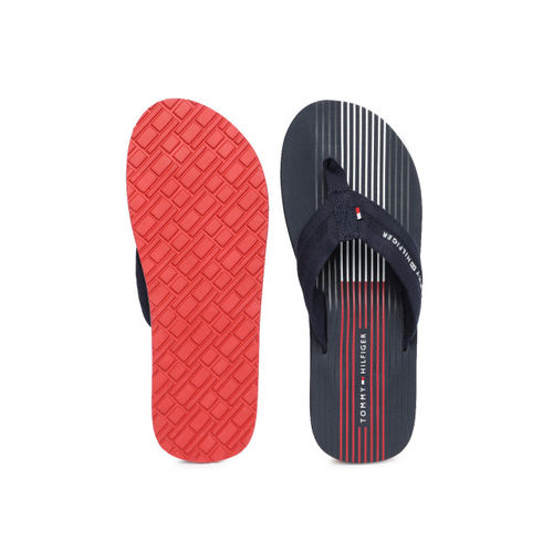 3658a6ca4594 Buy Tommy Hilfiger Men Navy Blue Solid Thong Flip-Flops online ...