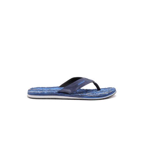Quiksilver Men Blue & Beige Printed Flip-Flops