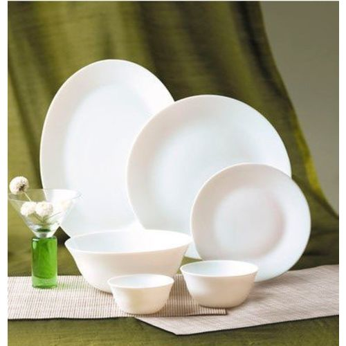LaOpala La Opala Diva Ivory 33 Pcs Plain Dinner Set