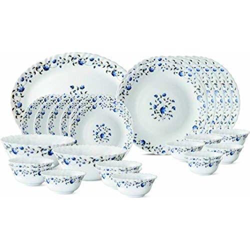 LaOpala Diva Blue Mystique Dinner Set of 27 Pcs