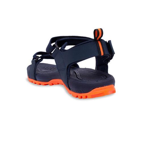 ASIAN Men TABLET Navy Blue & Orange Sports Sandals